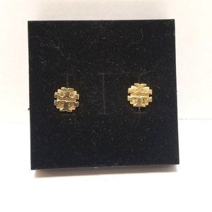 Tory Burch Small T Logo Stud Earring